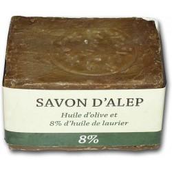 Savon d'Alep 8% de Laurier